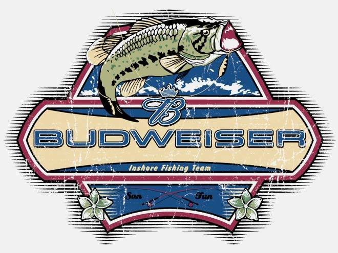 517 Graphics Tampa Fl - T-Shirt Graphic big mouth bass for Budweiser