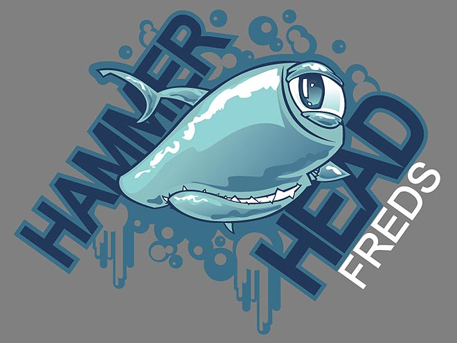 517 Graphics Tampa Fl - T-Shirt Graphic cartoon shark for Hammer Head Freds
