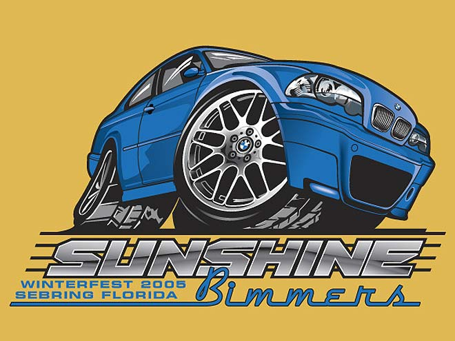 517 Graphics Tampa Fl - T-Shirt Graphic design for BMW Sunshine Bimmers